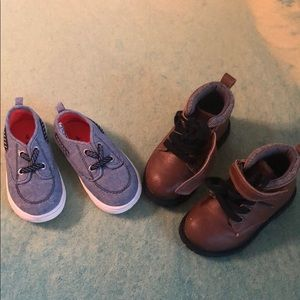 2 pr Carter's shoes - toddler 6 - boots & sneakers